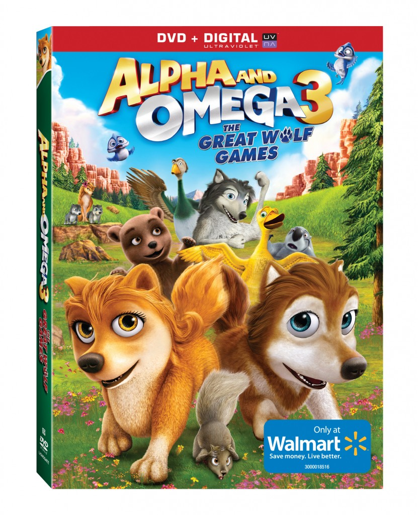 Alpha and Omega 3:  The Great Wolf Games DVD Review and Giveaway