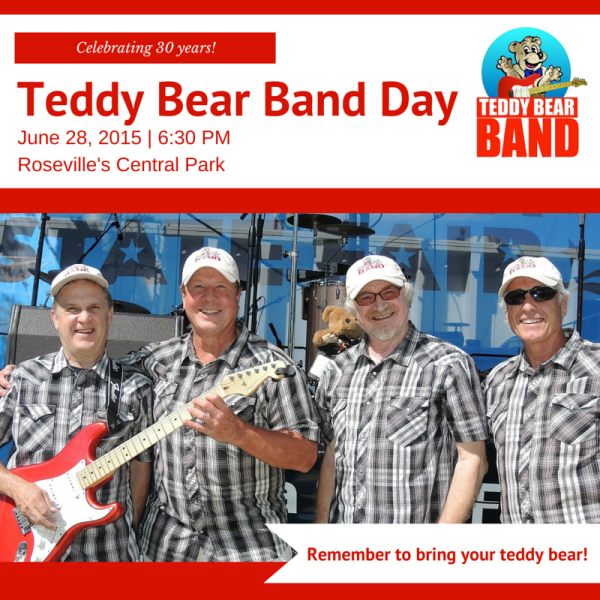 Teddy Bear Band Day Roseville, MN 6/28/15