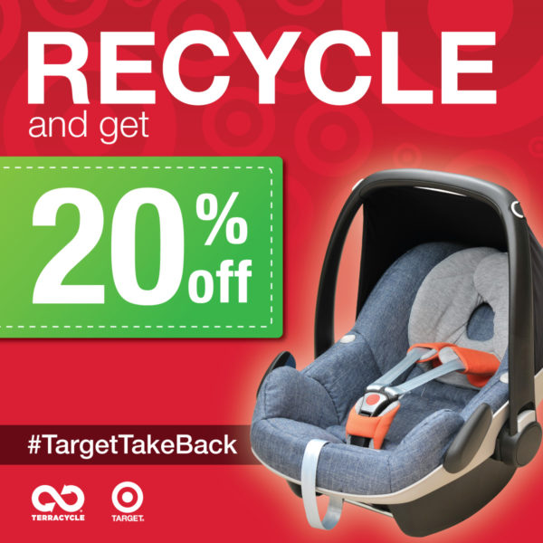 Recycle Used Car Seats at Minnesota Target Stores