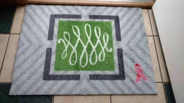 Welcome a Cure Pink Ribbon Mat {Plus Giveaway}