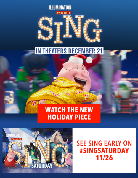 Happy Holiday from SING – in Theaters December 21