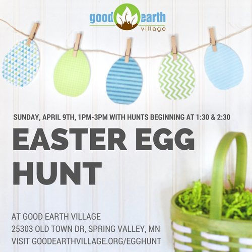 SPRING VALLEY EASTER EGG HUNT AT GOOD EARTH VILLAGE