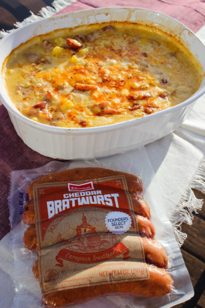 Klement's Cheesy Brat Casserole and Making Time to Cherish Loved Ones